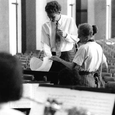 Rehearsing University of Queensland SO 1992